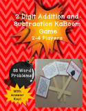 2 Digit Addition and Subtraction WORD PROBLEM KABOOM Game!