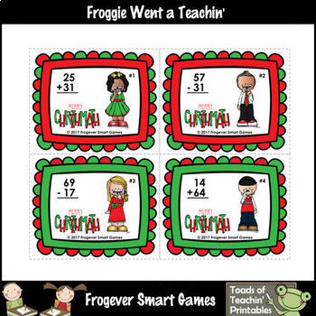 "2-Digit Addition & Subtraction Without Regrouping -- ""Merry Chrithmath"""