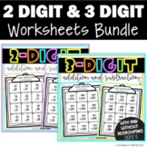 2 and 3 Digit Addition and Subtraction Set 1 Bundle