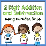 2 Digit Addition and Subtraction using Number Lines