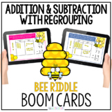 2 Digit Addition and Subtraction with Regrouping Boom Cards