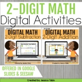 2 Digit Addition and Subtraction with Regrouping DIGITAL Math Activities Bundle