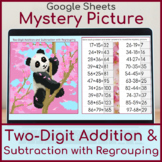 2 Digit Addition and Subtraction with Regrouping | Mystery Picture Panda