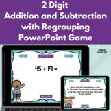 2 Digit Addition and Subtraction with Regrouping PowerPoint Game