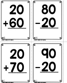 2 Digit Addition and Subtraction Games