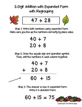 2-Digit Addition and Subtraction with and without Regrouping {Fall Theme}