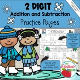 2-Digit Addition and Subtraction with and without Regrouping {Winter Theme}