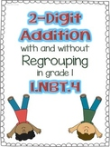 2 Digit Addition in Grade 1, 1.NBT.4