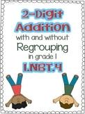 2 Digit Addition in Grade 1, 1.NBT.4