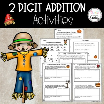 2 Digit Addition  no regrouping Activity