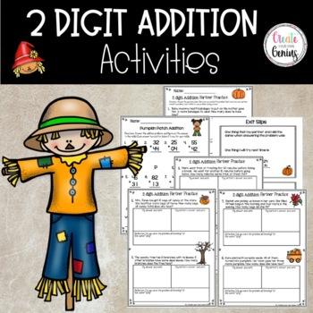 2 Digit Addition  no regrouping Activity