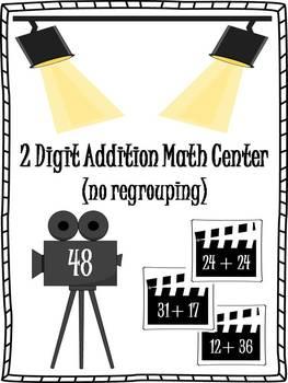 2 Digit Addition (no regrouping) Math Center