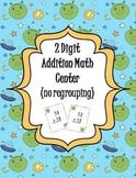 2 Digit Addition (no regrouping) Math Center - alien theme