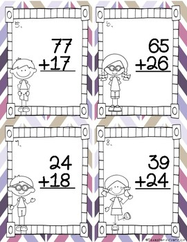 2 Digit Addition w/ Regrouping & w/out Regrouping