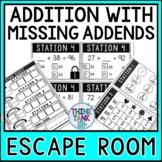2 Digit Addition with Missing Addends | Escape Room | Adding Missing Numbers