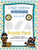 2-Digit Addition with NO Re-grouping Puzzle Pack