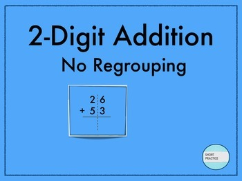 2-Digit Addition with No Regrouping