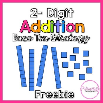 2 Digit Addition with Regrouping FREEBIE