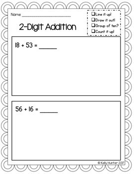 2-Digit Addition with Regrouping