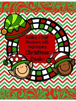 2 Digit Addition with Regrouping - Christmas Addition