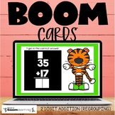 2 Digit Addition with Regrouping Boom Cards Distance Learning