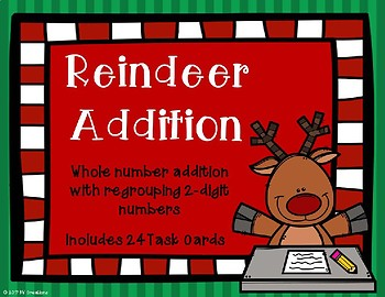 2 Digit Addition with Regrouping {Christmas Theme}