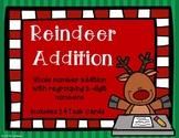 2 Digit Addition with Regrouping {Christmas - Reindeer}