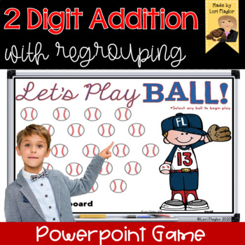 2 Digit Addition with Regrouping Interactive Math Game