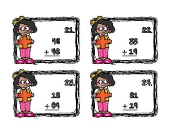 2-Digit Addition with Regrouping Kaboom Game