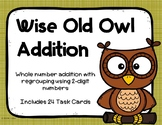 2 Digit Addition with Regrouping {Owl}