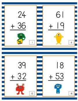 2-Digit Addition with Regrouping Scoot Game