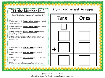 2 digit addition with regrouping song center by door to common core. Black Bedroom Furniture Sets. Home Design Ideas