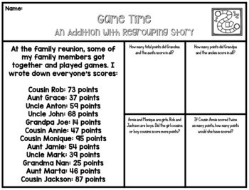 2 Digit Addition with Regrouping Stories - 10 Math Enrichment Resources