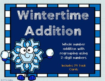 2 Digit Addition with Regrouping {Winter Theme}