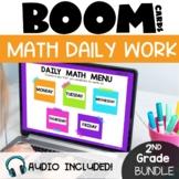 2nd Grade Morning Work Math Boom Cards GROWING Bundle | Di
