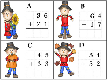 2 Digit Addition  (with and without regrouping)