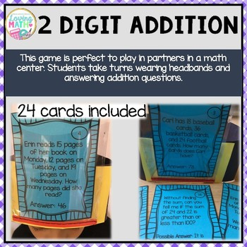 2 Digit Addition with Regrouping - Headbands Game