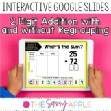 2 Digit Addition with & without Regrouping Task Cards Goog