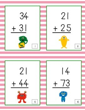 2-Digit Addition without Regrouping Scoot Game