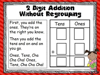 2 Digit Addition without Regrouping Song/ Center by Door To Common ...