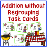 2 Digit Addition without Regrouping Task Cards ~ BBQ