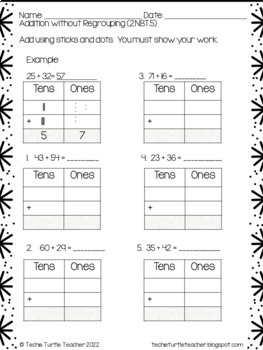 2 digit addition subtraction with without regrouping using base ten blocks. Black Bedroom Furniture Sets. Home Design Ideas
