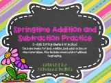 2-Digit Addition and Subtraction Spring Bundle