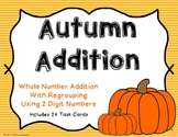 2 Digit Additon with Regrouping {Autumn Theme}