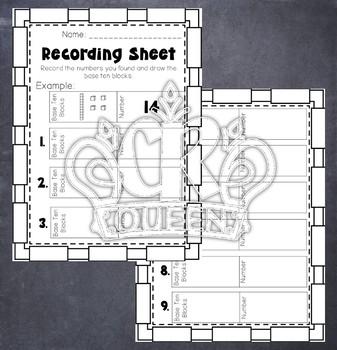 2 Digit Base 10 Block Place Value Puzzles