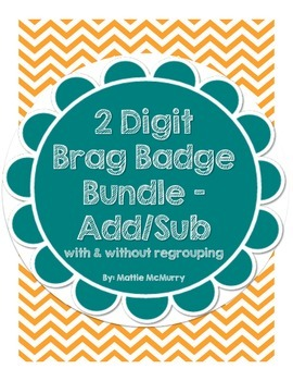 2-Digit Bundle Brag Badge - Addition/Subtraction