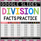 Division Facts Fluency Practice Third Fourth Fifth Grade Basic Math Google Slide