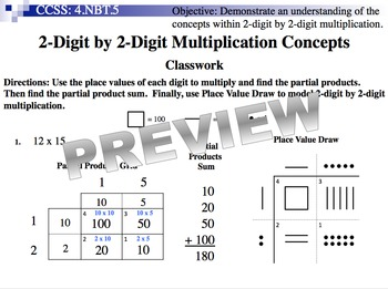 2-Digit By 2-Digit Multiplication Concepts (Part of Multiplication Unit)