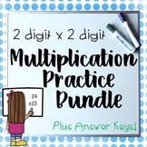 Digit By 2 Digit Multiplication Worksheets Bundle! More Included!