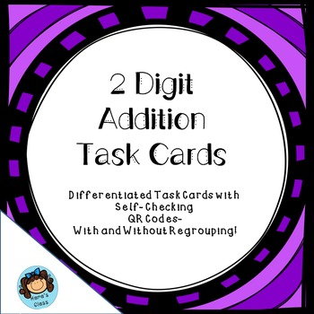 2 Digit Differentiated Addition with Self-Checking QR Codes